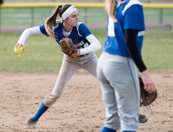 04/09/18 Wesley Bunnell   Staff Southington softball defeated Bristol Eastern 6-1 at Southington High School on Monday afternoon. Jordan Fitzsimons (10)