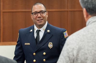 04/11/18  Wesley Bunnell | Staff  New Fire Chief Raul Ortiz held an open session to meet the public from 5-7pm at the New Britain High School lecture hall on Monday.