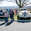 04/21/18  Wesley Bunnell | Staff<br /> <br /> Visitors stand in front of a row of vintage cars at the Klingberg Family Center. The Klingberg Vintage Motorcar Series held their April event on Saturday with a focus on the Ford Model A.