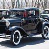 04/21/18  Wesley Bunnell | Staff<br /> <br /> Josh Goldberg drives his 1930 Ford Model A with passenger Gary Mason out of the parking lot at Klingberg Family Center. The Klingberg Vintage Motorcar Series held their April event on Saturday with a focus on the Ford Model A.