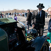 04/21/18  Wesley Bunnell | Staff<br /> <br /> Brandon Barriello and Rebecca Nowak examine the front end of a 1927 Rolls Royce Phantom I owned by Ernest Smith of Simsbury at the Klingberg Family Center. The Klingberg Vintage Motorcar Series held their April event on Saturday with a focus on the Ford Model A.
