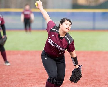 04/24/18  Wesley Bunnell | Staff  Innovation softball defeated Plainville 7-6 in extra innings on Tuesday afternoon at Plainville. Isabella Orejuela (12).