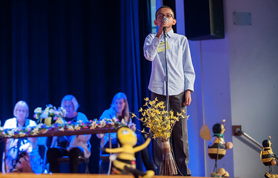 04/25/18  Wesley Bunnell | Staff  The Consolidated School District of New Britain held its District Middle School Spelling Bee Championship at Slade Middle School on Wednesday evening.  7th grader Basil Mohamed from HALS.