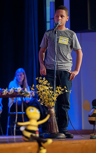 04/25/18  Wesley Bunnell | Staff  The Consolidated School District of New Britain held its District Middle School Spelling Bee Championship at Slade Middle School on Wednesday evening.  7th grader Jazavier Figueroa from Pulaski Middle School.