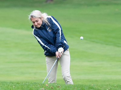 04/30/18  Wesley Bunnell | Staff  Newington girls golf vs New Britain on Monday afternoon at Indian Hill Golf Club in Newington.  Newington's Chloe Bilodeau.