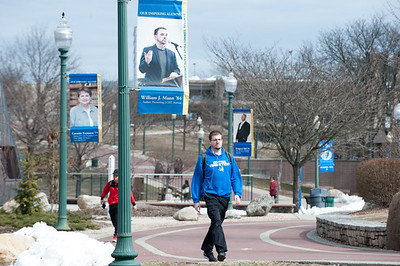03/22/18  Wesley Bunnell | Staff  CCSU students walk near the student center on March 22nd.
