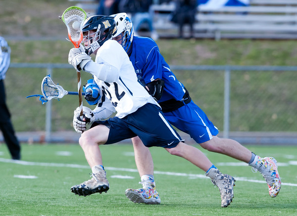 04/10/18 Wesley Bunnell | Staff Southington boys lacrosse defeated Newington 8-5 at Newington on Tuesday afternoon. Connor Brennan (22).