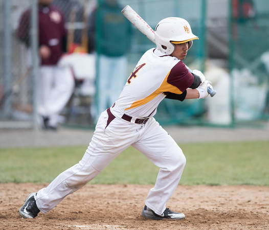 04/11/18 Wesley Bunnell | Staff New Britain baseball was defeated by Bristol Eastern on Wednesday afternoon at Beehive Field. Francisco Alvarado (4).