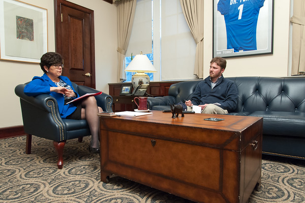 04/03/18 Wesley Bunnell | Staff CCSU President Dr. Zulma Toro interviewed in her office on Tuesday April 3.