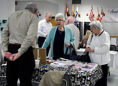 4/14/2018 Mike Orazzi | Staff Aaron Elson talks with Ruth Dianna and Judy Mackiewicz  during the Prime Time Senior Fair held at Bristol Eastern High School Saturday.