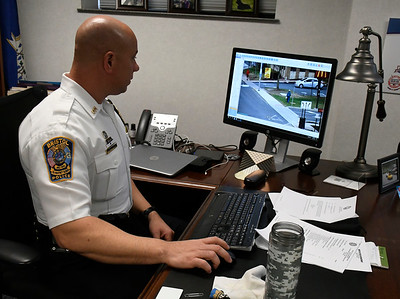 4/17/2018 Mike Orazzi   Staff Bristol Police Chief Brian Gould talks about a partnership with community surveillance cameras.
