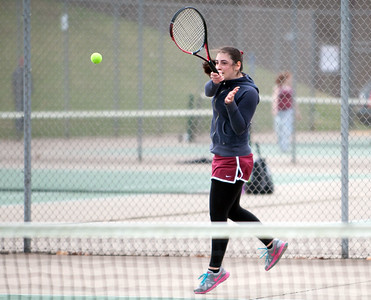 04/17/18  Wesley Bunnell   Staff  Berlin girls tennis at New Britain on Tuesday afternoon. New Britain's Lela Shredidze