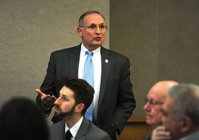 4/18/2018 Mike Orazzi | Staff State Senator Henri Martin during the Central Connecticut Chambers of Commerce Legislative Action Committee Legislative Roundtable breakfast held at Bristol Hospital Wednesday morning.