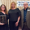 04/19/18  Wesley Bunnell | Staff<br /> <br /> The Southington United Way held their annual meeting dinner and auction at the Aqua Turf Club on Wednesday April 18. Community volunteer and 2018 Southington All Star Award Winner Jodie Derwin and United Way President Rob Flood, R.