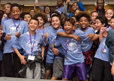 04/27/18  Wesley Bunnell | Staff  The CCSU Ana Grace Project held Love Wins: Finish the Race on Friday to give young middle school students from across New Britain a college experience for the day and have them explore their possibilities. CCSU volunteers included many student athletes. Middle school students cheer on their fellow classmates as they dance onstage with CCSU students.