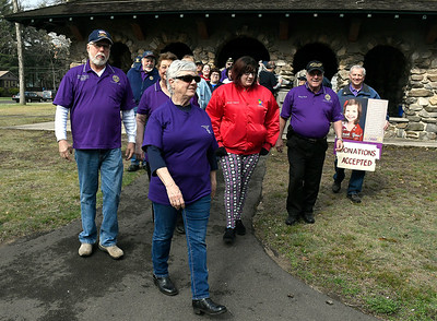 4/28/2018 Mike Orazzi | Staff Participants in the American Legion Family Kids Walk held at Rockwell Park in Bristol Saturday morning.