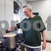 04/06/18  Wesley Bunnell | Staff<br /> <br /> Kelly Nauss, Sexton of St. Mark's Church, stirs a large pot of pasta in the church's kitchen on Friday evening. The church which is located on W. Main St in New Britain holds a feed the hungry dinner every Friday from 5-6pm for approximately 70-100 individuals relying in large part to donations from the community.