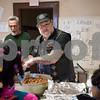 04/06/18  Wesley Bunnell | Staff<br /> <br /> Andrianna Baez , L,  stands next to St. Mark's Church Sexton Kelly Naus as fellow volunteer Bernie Boucher, R, helps to serve meals to the hungry at the church on Friday evening. The church which is located on W. Main St in New Britain holds a feed the hungry dinner every Friday from 5-6pm for approximately 70-100 individuals relying in large part to donations from the community.