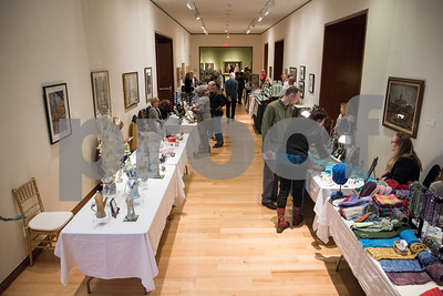 04/06/18  Wesley Bunnell | Staff  Swing into Spring Makers Market was the theme of First Friday at the New Britain Museum of American Art on Friday April 6.  Vendors are shown lining the main hall on the first floor of the museum.