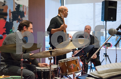 04/06/18  Wesley Bunnell | Staff  Theresa Wright and the Distinguished Gentlemen performed for the crowed at Swing into Spring Makers Market at First Friday at the New Britain Museum of American Art on Friday April 6.