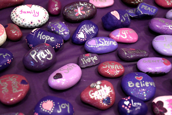 4/7/2018 Mike Orazzi | Staff Painted rocks during the 6th Annual Dance for Ana with Love held at the CREC Academy of Science and Innovation Saturday in New Britain.