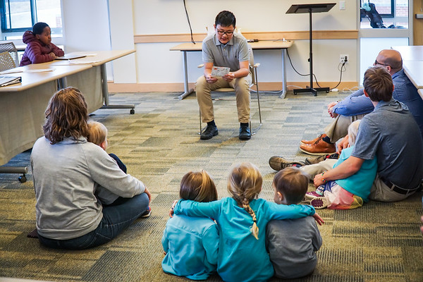 Sixth Graders Read to Faculty Kids
