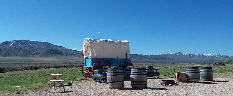 California Trail Center, near Elko Nevada.  Those are actual mountains in the background (I believe the Humboldt Range), not a backdrop.
