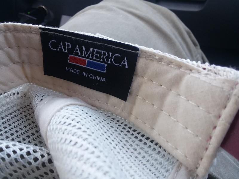 Then I got to looking at it.  What in the actual fuck?  Surely the hat maker sees the irony here?