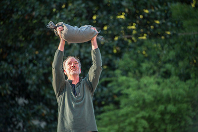 The F3 fitness routine includes lifting and dropping heavy sand bags. [Bill Giduz photo]