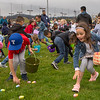 Annabelle Steinbarger, 6, of Marina grabs an egg during the annual Easter Egg Hunt at Jacks Park in Monterey on Saturday April 20, 2019. (David Royal/ Herald Correspondent)