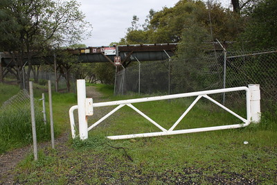 The entrance to the trail adjacent to the Lime Saddle Marina is seen on Monday. (Risa Johnson -- Enterprise-Record)