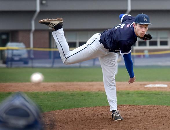 BRYAN EATON/Staff Photo. Hamilton-Wenham pitcher Everett Wonson in action with Georgetown.