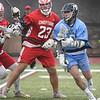 BRYAN EATON/Staff photo. Triton's John Deufermia takes the ball into Masco territory.