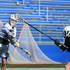 CARL RUSSO/staff photo. Pentucket senior Matt Keeves shoots on net in lacrosse action against Boston Latin. <br /> <br /> The Pentucket boys lacrosse team is off to a great start, and Kevin Kershaw has played a big part in that success. The senior, who has never been a major contributor on the team before this season, has burst out with a team-high 22 goals through the team's first five games, including three games with six or more goals. 4/17/2019