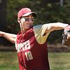 BRYAN EATON/Staff Photo. Newburyport pitcher Parker McLaren winds up.