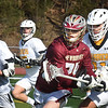 BRYAN EATON/Staff Photo. Newburyport's Jackson Marshall gets covered as he looks for an open teammate.