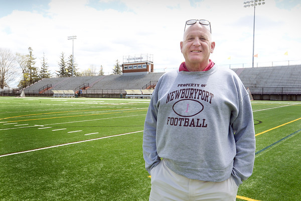 BRYAN EATON/Staff Photo. Former Newburyport High football coach Ed Gaudiano is being inducted into the Mass High School Football Coaches Association's Hall of Fame this weekend.