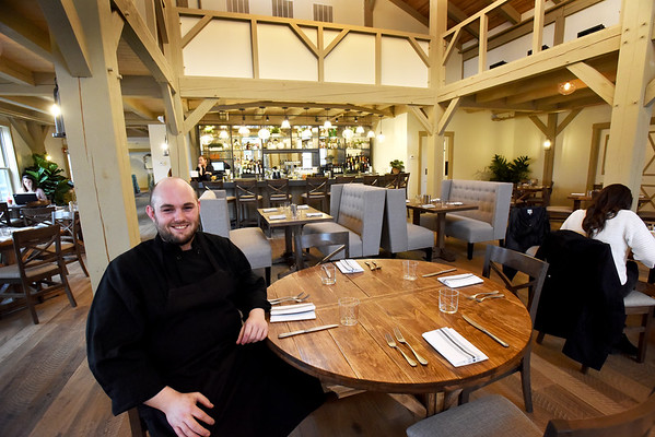 BRYAN EATON/Staff Photo. Chef Ben Lightbody of Grove restaurant at the Briar Barn Inn in Rowley which opens today.