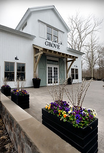 BRYAN EATON/Staff Photo. Grove restaurant at the Briar Barn Inn in Rowley opens today.