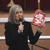 "JIM VAIKNORAS/Staff photo Hank Phillippi Ryan talks about her book ""Trust Me"" at the Central Congregational Church during the annual Newburyport Literary Festival Saturday."