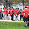 BRYAN EATON/Staff photo. Teams from the Cape Ann League showed their support by all wearing the same shirt bearing Marden's number.