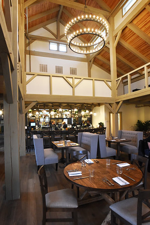 BRYAN EATON/Staff Photo. Grove restaurant, that is built with beams from Vermont with the look of a barn, at the Briar Barn Inn in Rowley opens today.