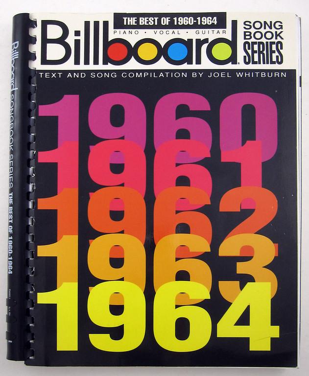 Billboard Best of 1960-1964 Words & Music piano vocal guitar
