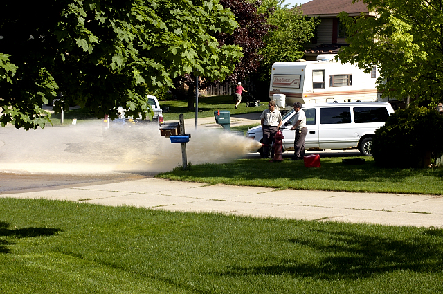 5/26/05 Fire Hydrant cleansing