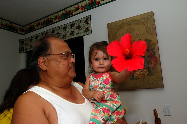 5/23/06 Madeline and Pappa with the flower