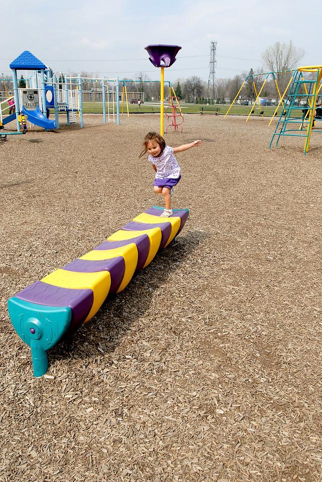 4/20/08 Madeline playing the playground at Sashabaw Elementary