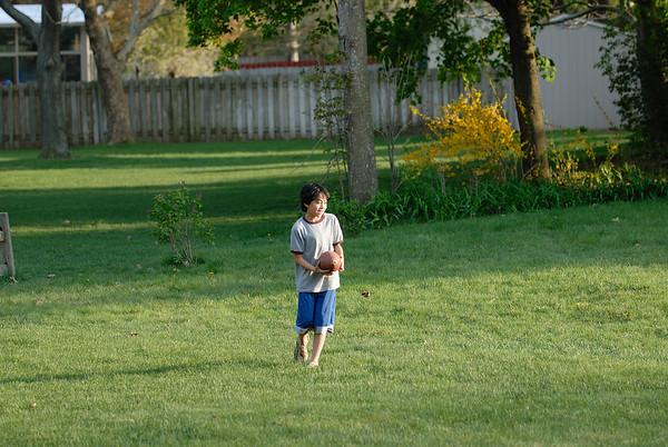 5/5/08 Jonas and Samuel playing football