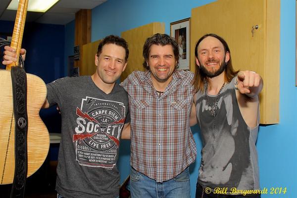 April 26, 2014 - Clayton Bellamy, Willie Mack & Bradley Tucker at Stony Plain Legion