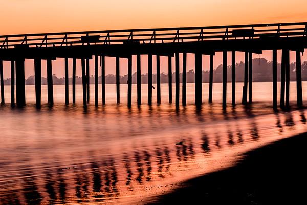 Seacliff Pier orange sunset