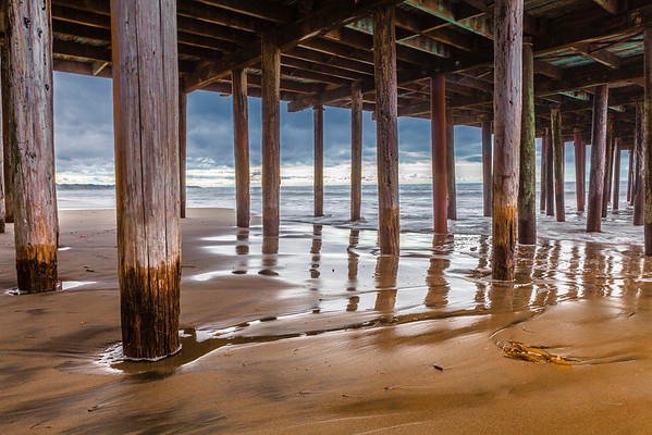 Seacliff Beach Pier in winter morning light
